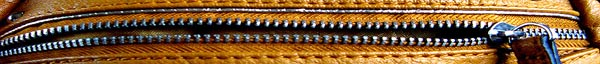 Zipper on Leather