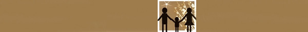 Family graphic on brown background