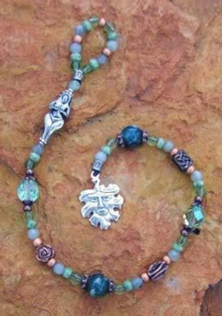 Meditation beads called a witch's ladder an example of some of the things I make