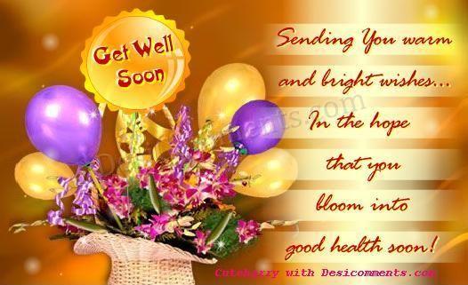 Speedy recovery get well soon