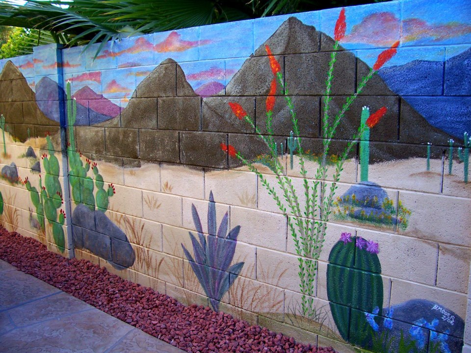Artistic joys cubit murals for the outdoors forum block for Desert wall mural